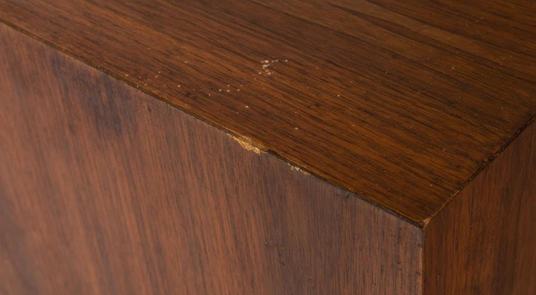 Milo Baughman Style Walnut Pedestals - 3