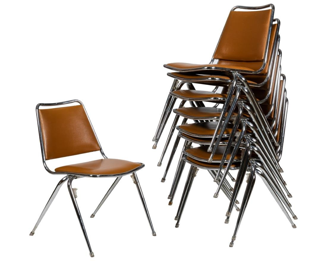 Chrome Stacking Chairs