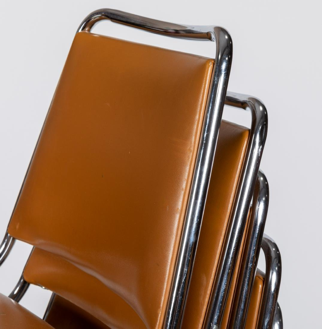 Chrome Stacking Chairs - 2