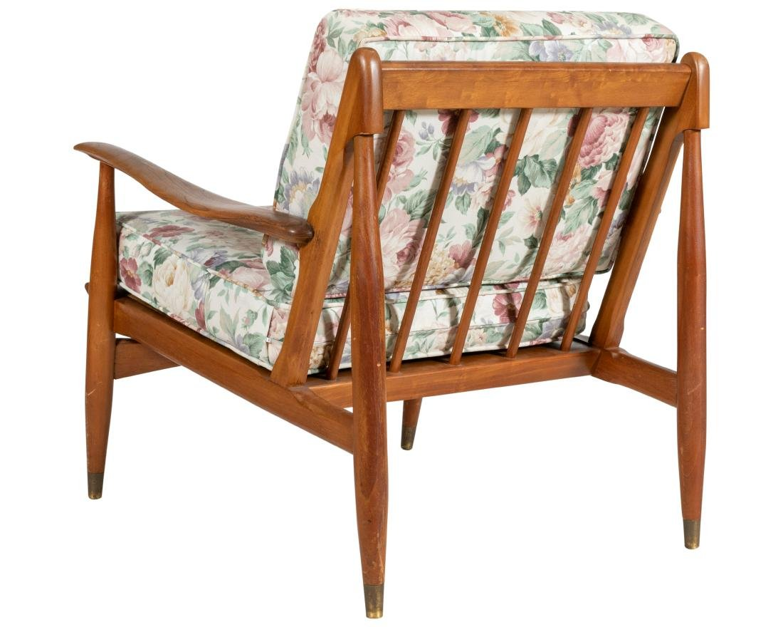 Walnut Sculpted Arm Chairs - 2