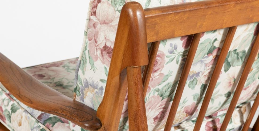 Walnut Sculpted Arm Chairs - 4