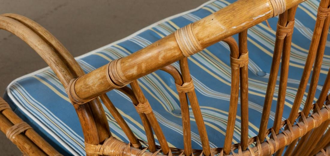Rattan Loveseat and Chair - 3