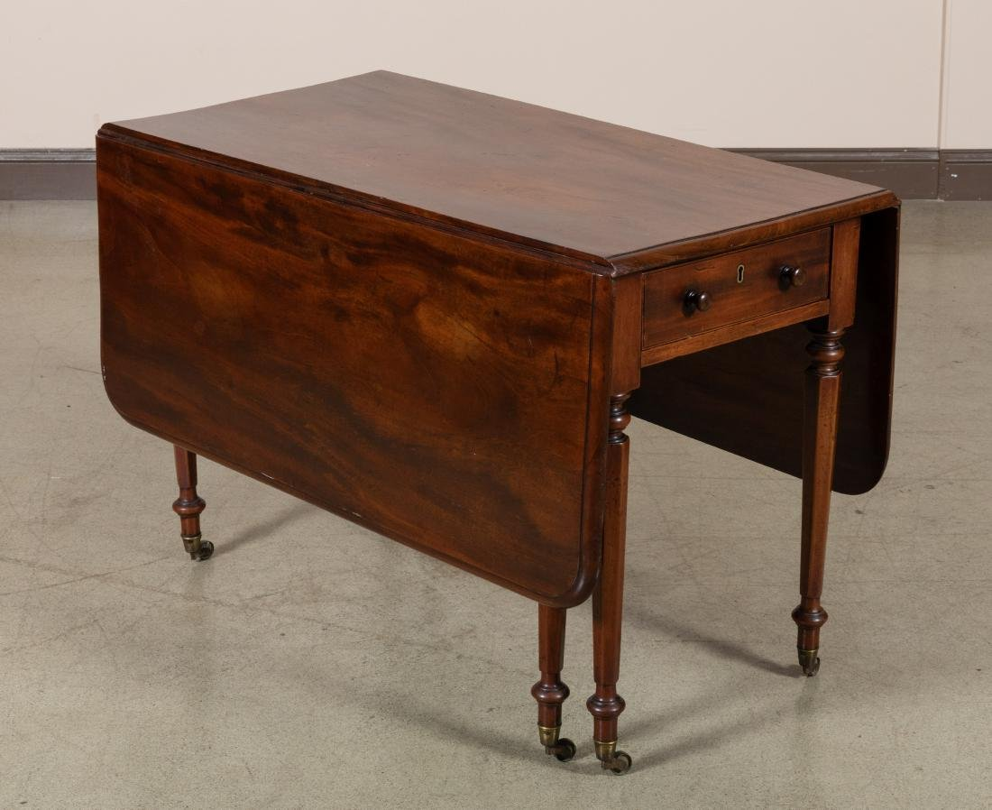 English Antique Drop Leaf Table