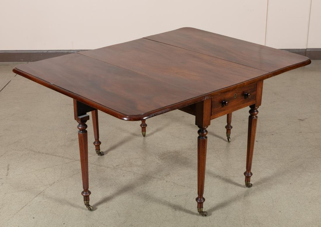 English Antique Drop Leaf Table - 3