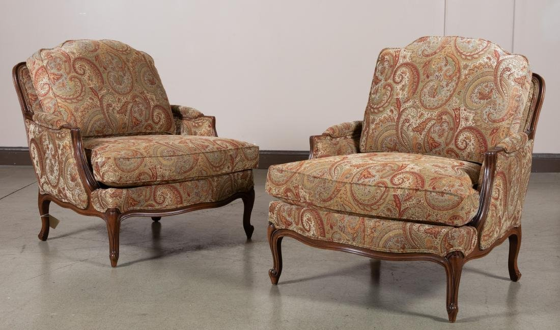 Ethan Allen Oversized Bergere Chairs