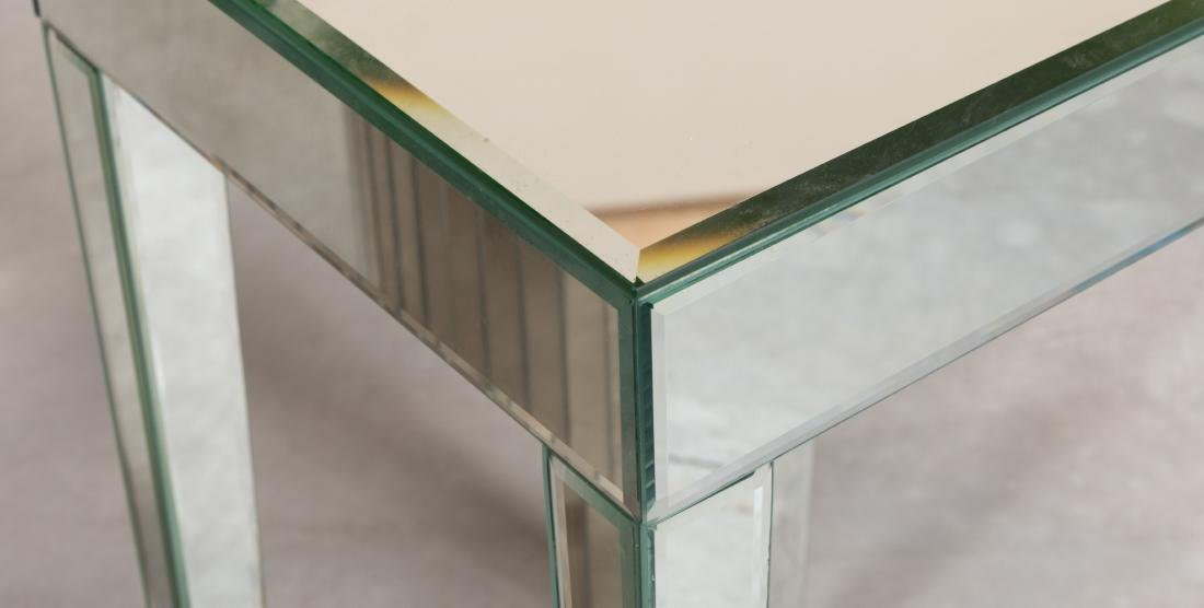 Mirrored Pedestal and Table - 3