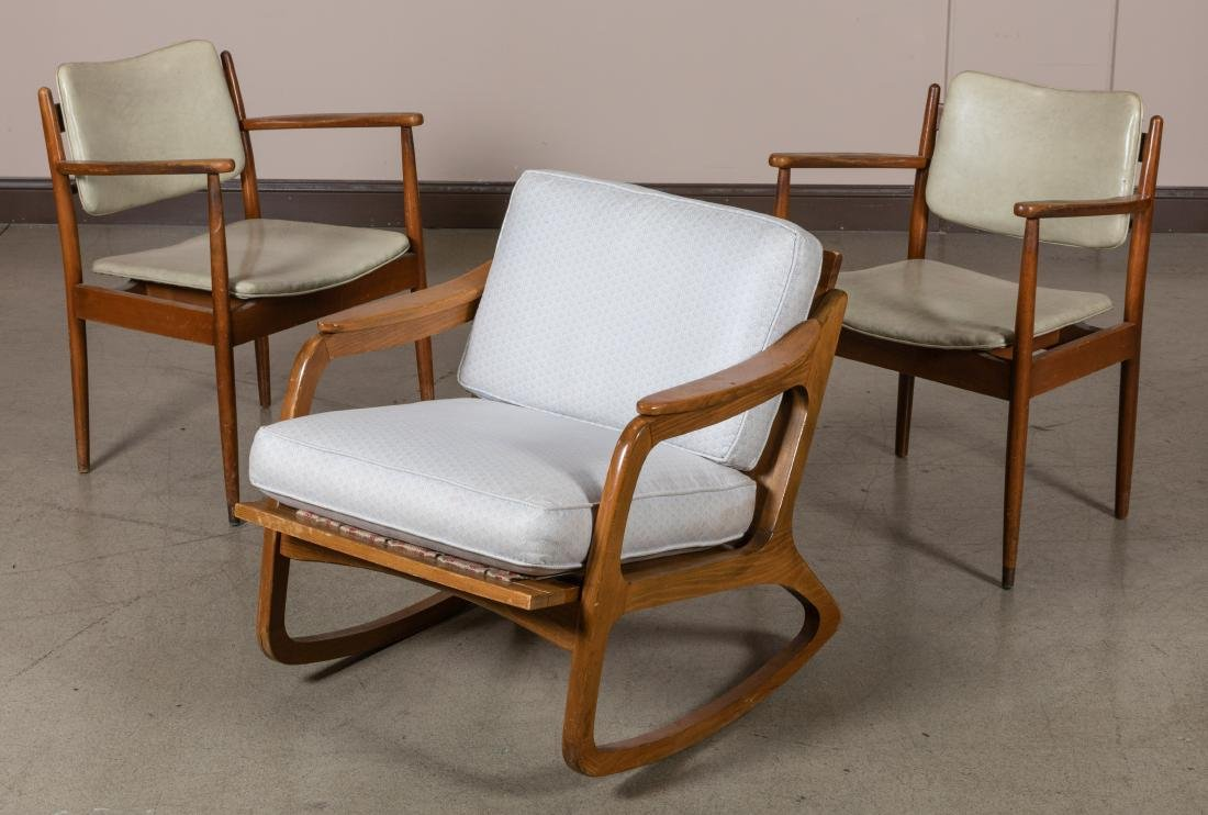 Pair Arm Chairs and Rocker
