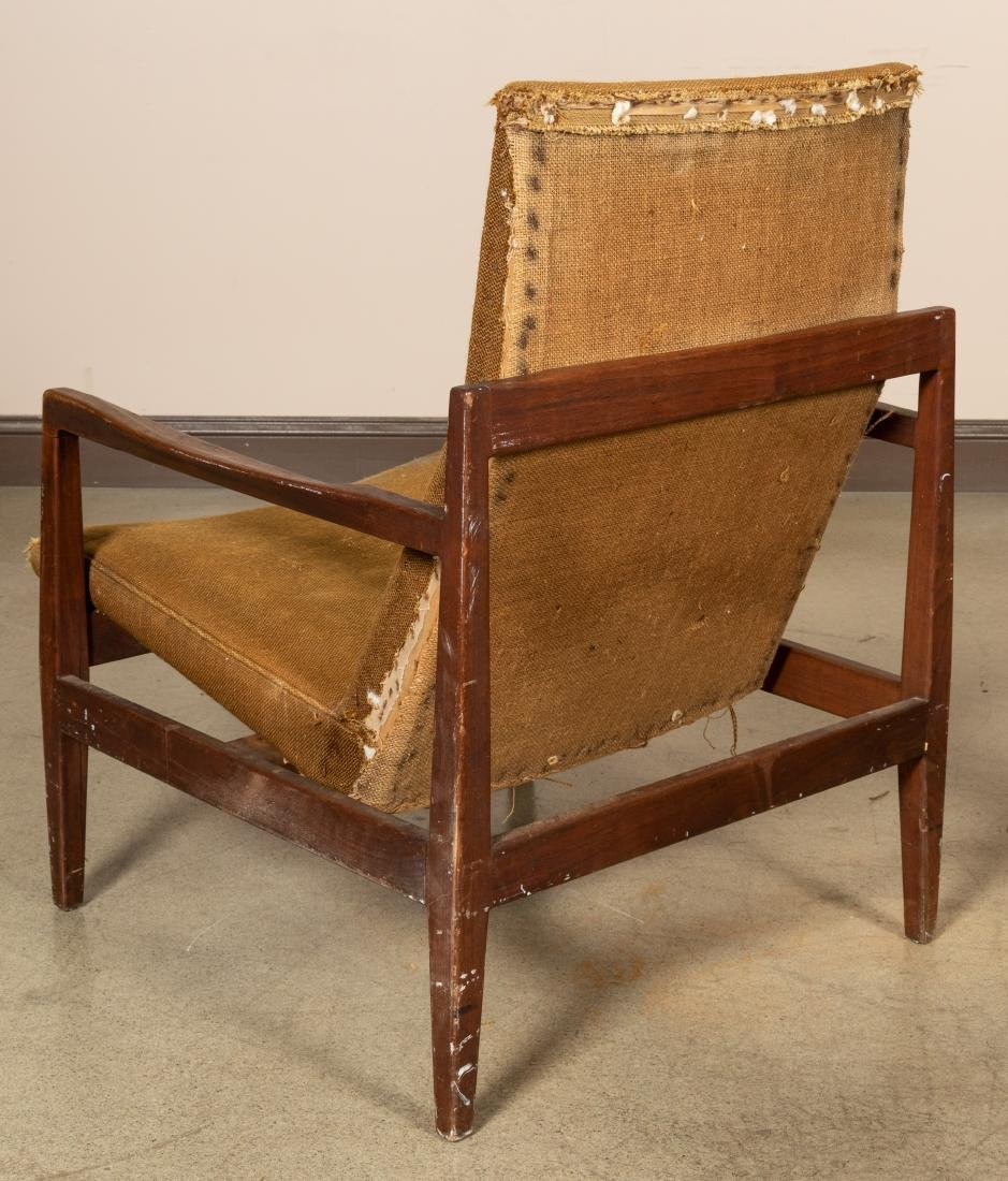 Pair Teak Sculpted Arm Chairs - 2