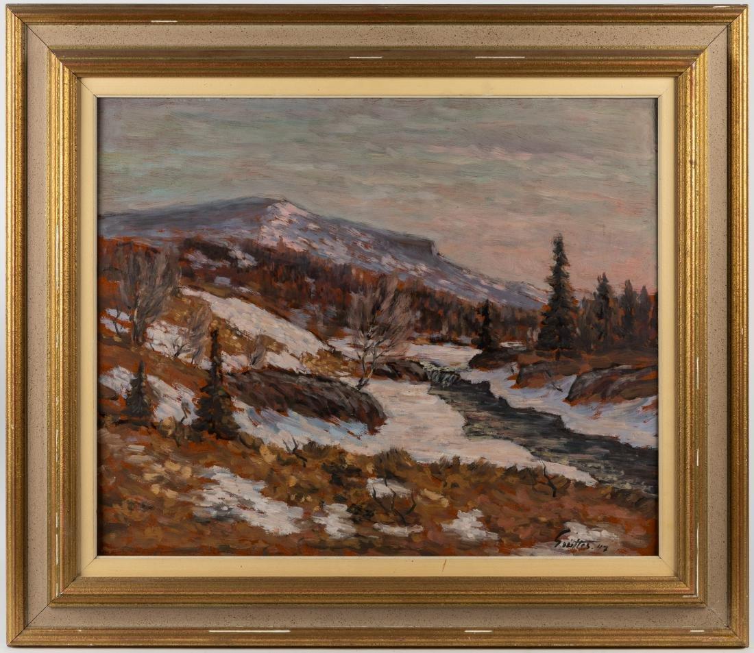 Oil on Board - Landscape