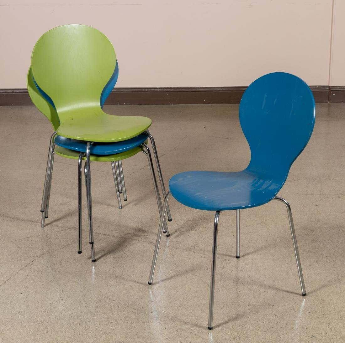 Danerka Rondo Style Side Chairs - Four
