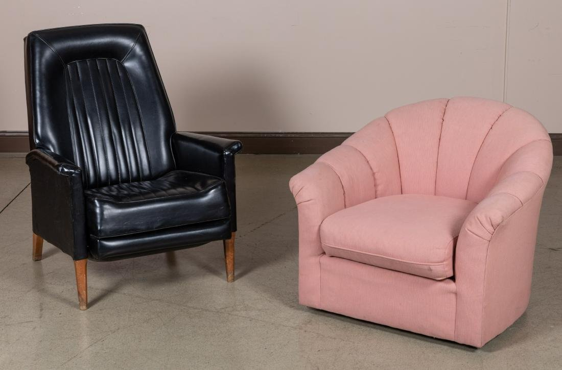 Vinyl Recliner and Swivel Chair