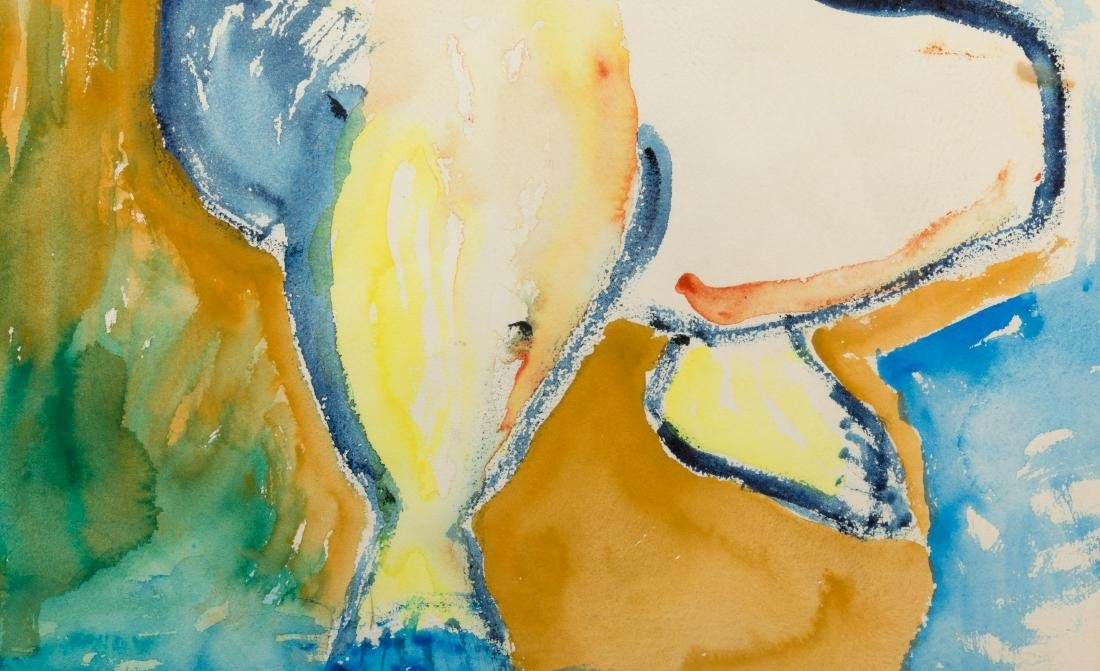Abstract Figural Watercolor - 3