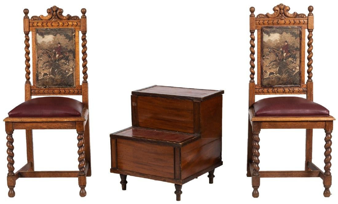 English Bedside Tables and Chairs
