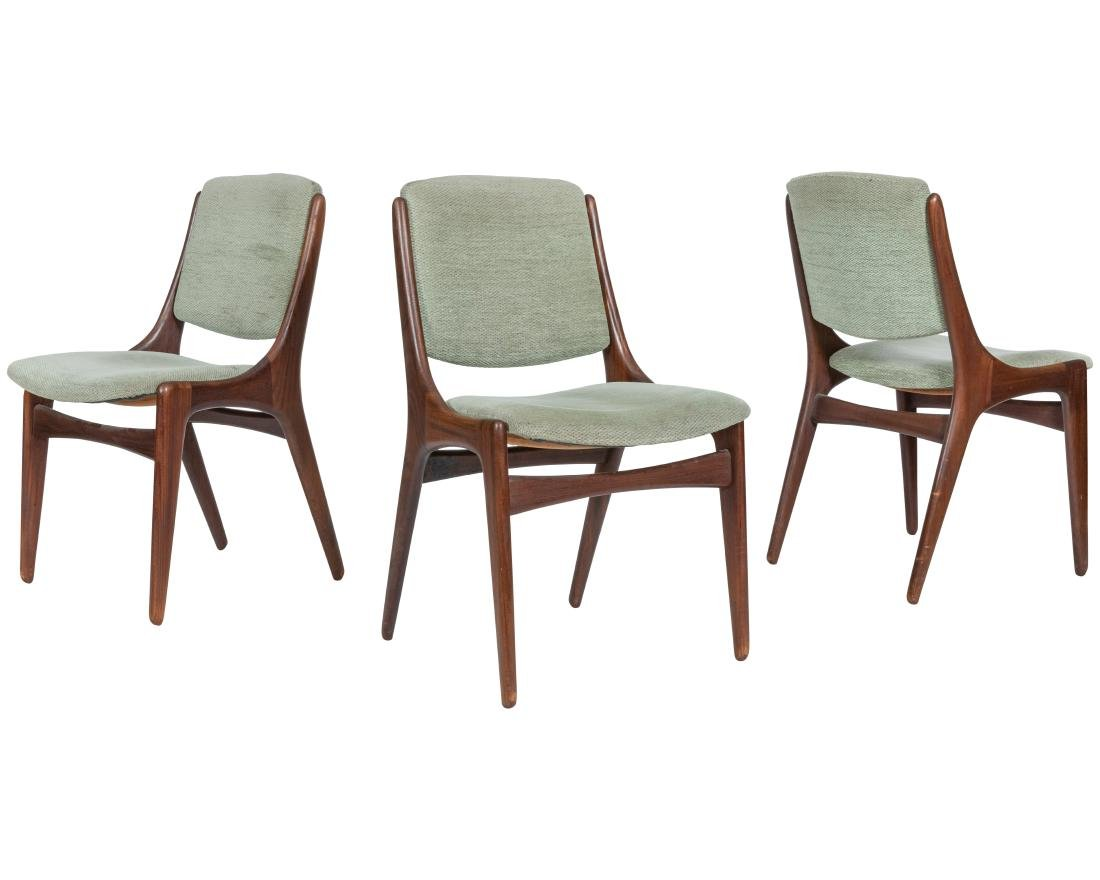 Danish Style Walnut Dining Chairs - Four - 3