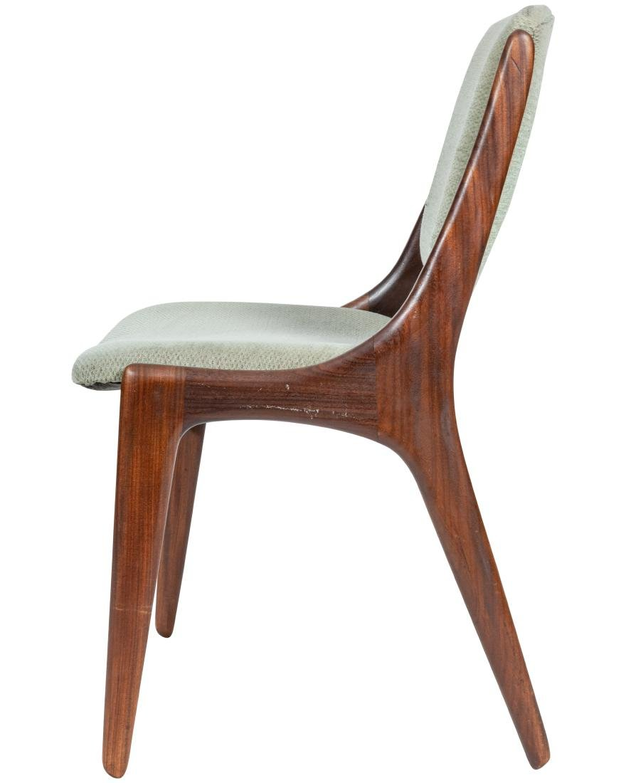Danish Style Walnut Dining Chairs - Four - 5