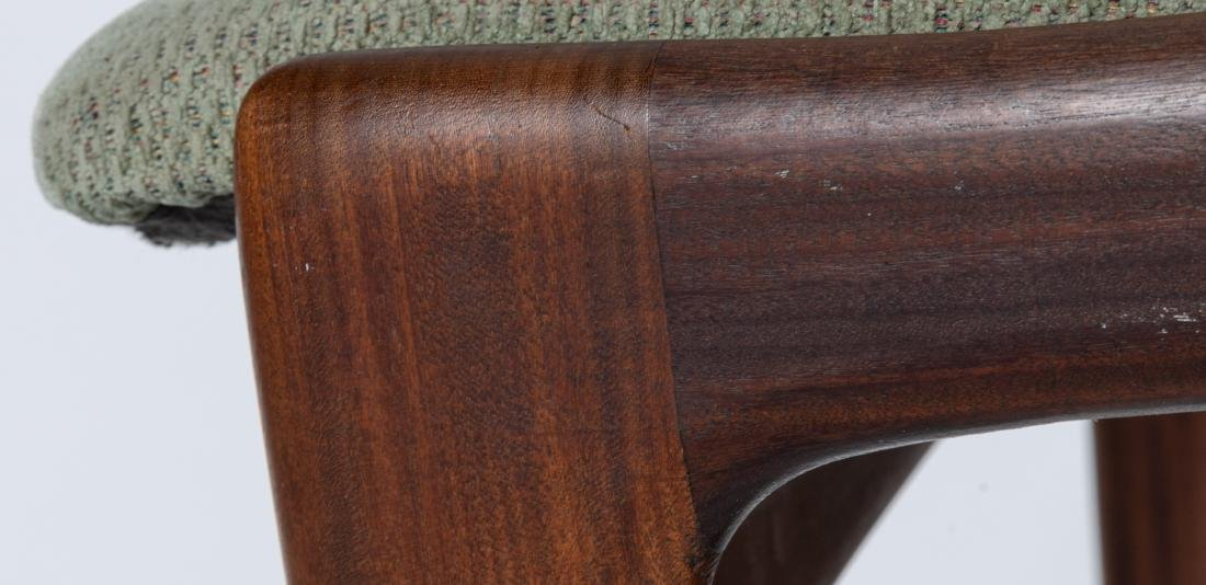Danish Style Walnut Dining Chairs - Four - 6