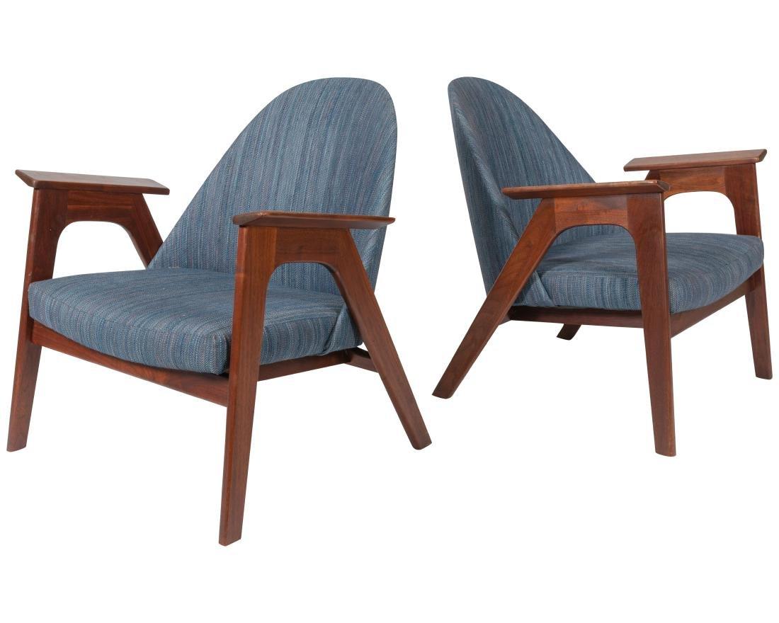 Pair of Lounge Chairs - Manner of Kofod Larsen
