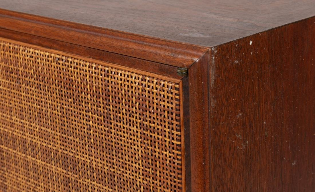 Walnut and Cane Hanging Cabinet - 3