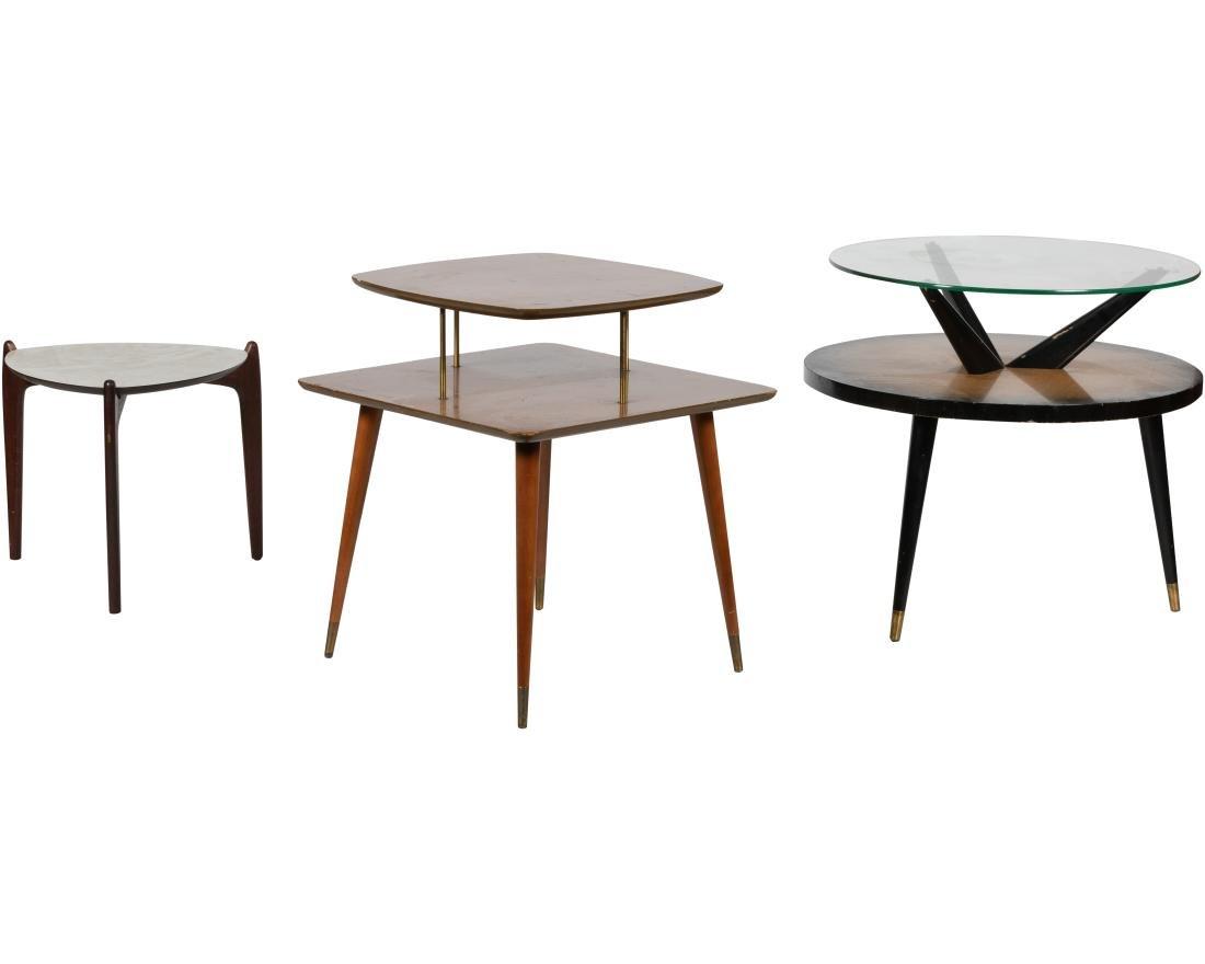 Three Mid Century Tables