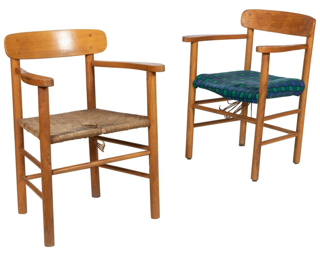 Scandinavian Arm Chairs - Pair