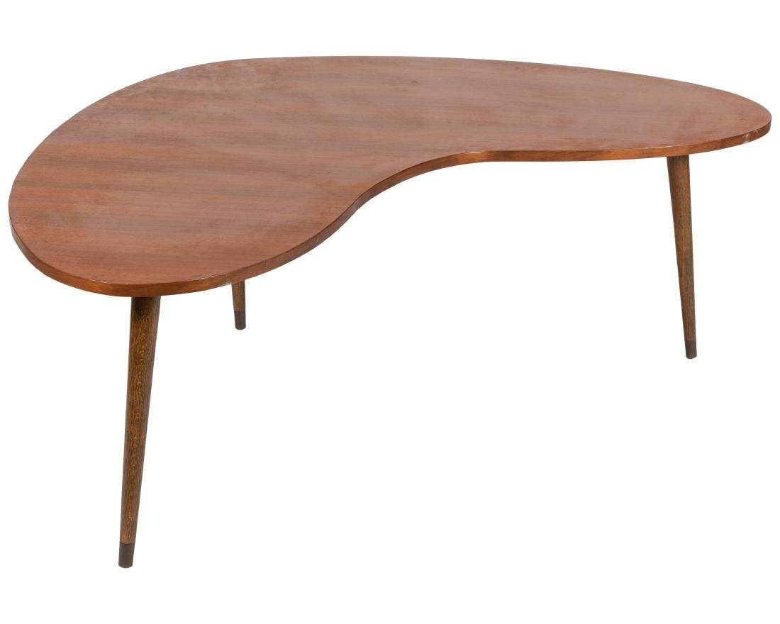 Walnut Boomerang Coffee Table