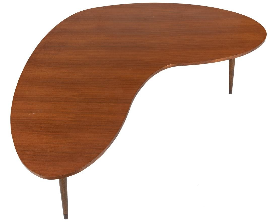 Walnut Boomerang Coffee Table - 2