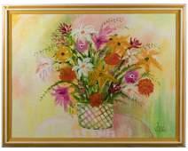 Lee Reynolds  Large Modernist Floral Painting