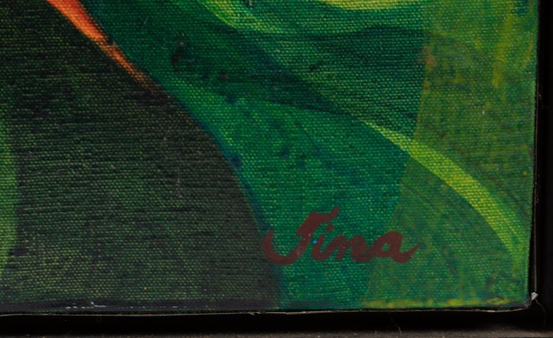 Tina Ryman - Abstract Oil on Canvas - 2