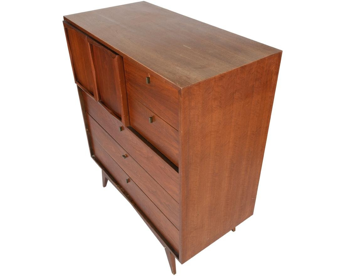 Walnut High Chest with Paneled Doors - 2