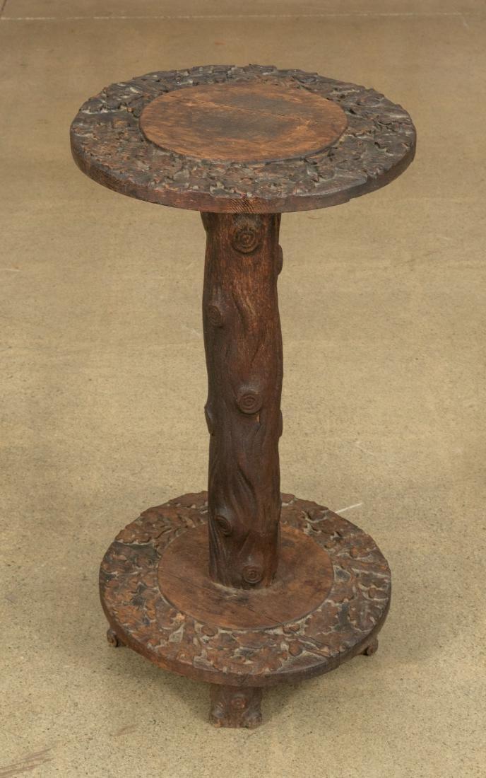 Carved Oak Pedestal