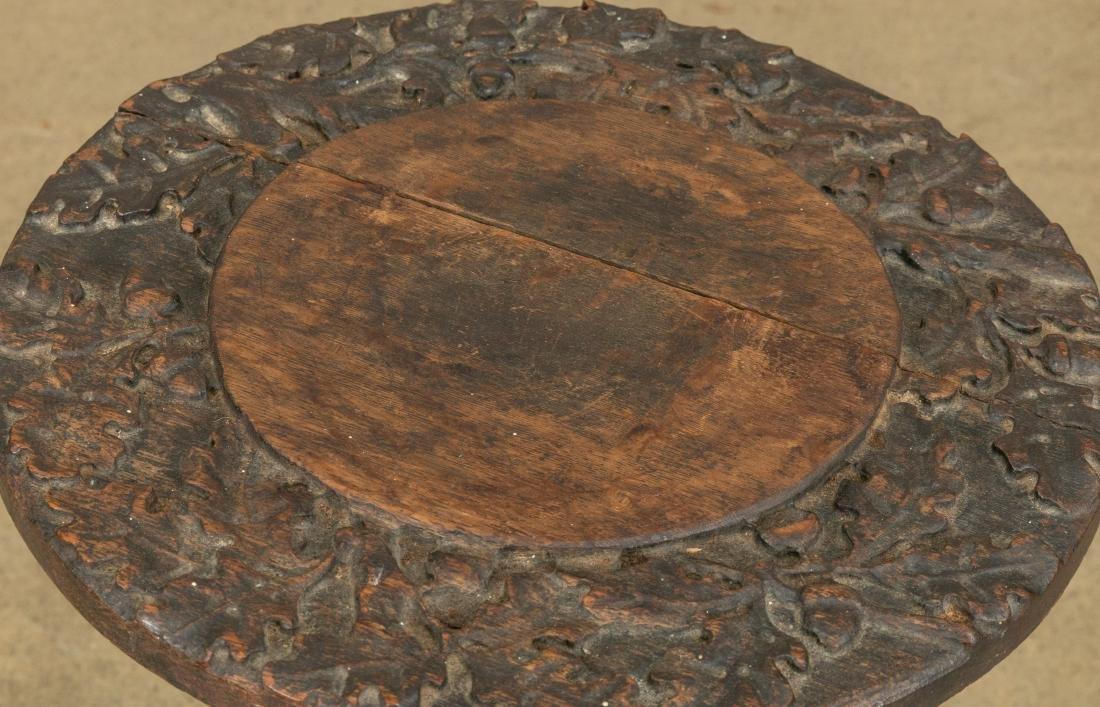 Carved Oak Pedestal - 2