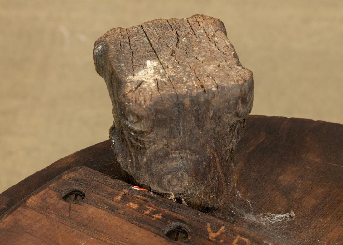 Carved Oak Pedestal - 4