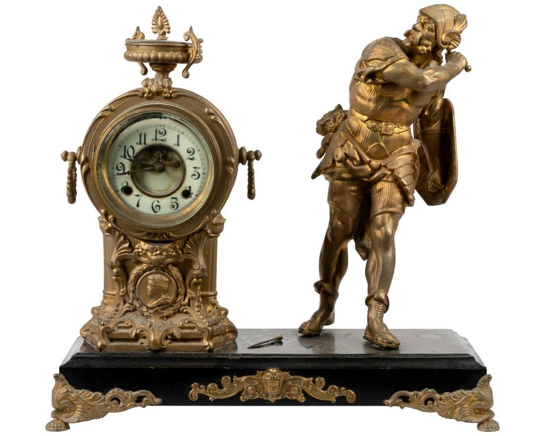 Figural Mantle Clock