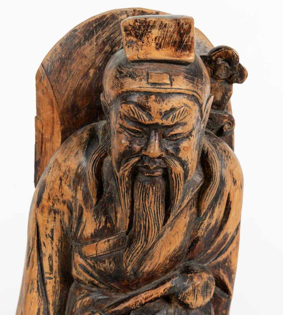 Group of Chinese Wood Carvings - 3