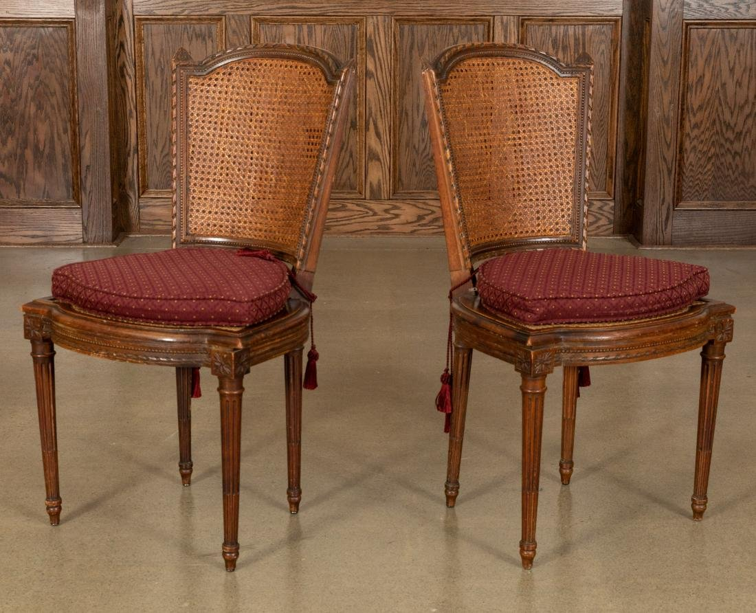 French Cane Side Chairs