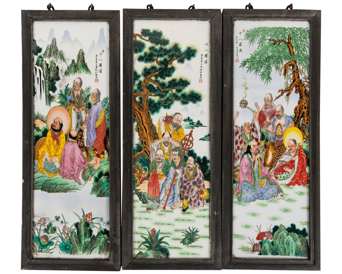 Chinese Porcelain Plaques - Three