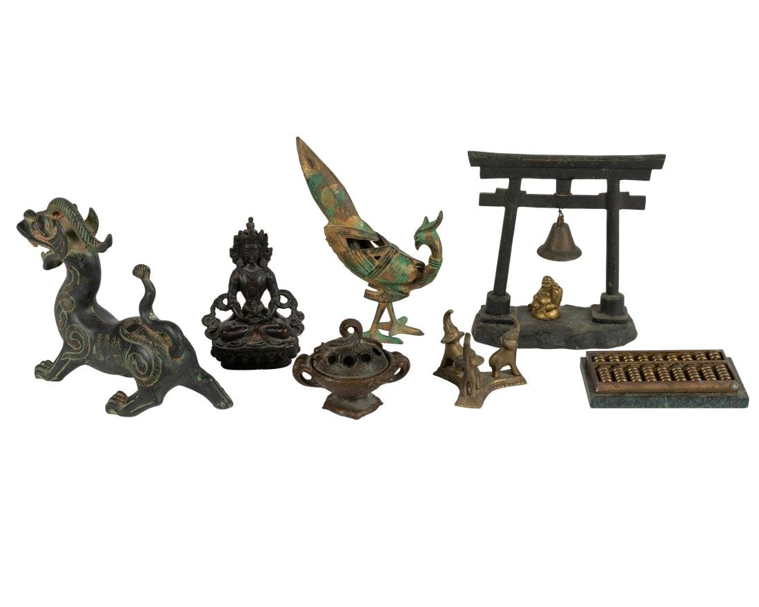 Group of Oriental Bronze and Figural Groupings