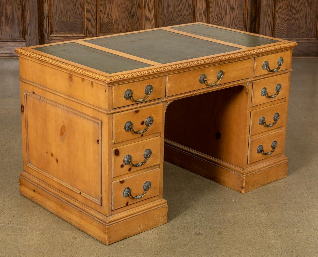 George III Style Leather Top Desk
