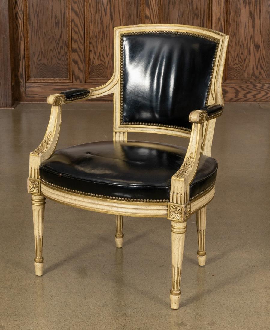 Louis XVI Leather Fauteuil