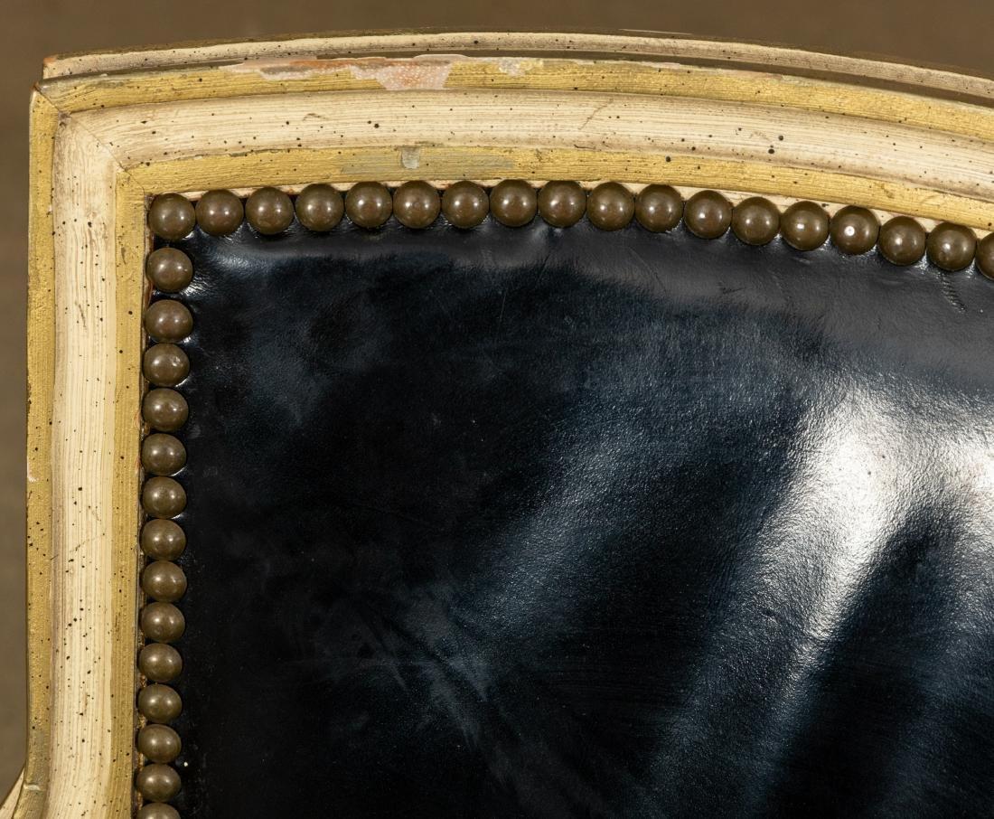 Louis XVI Leather Fauteuil - 3