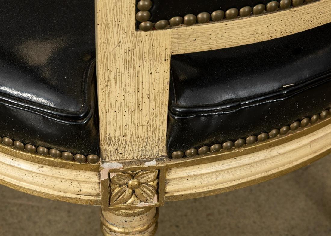 Louis XVI Leather Fauteuil - 4