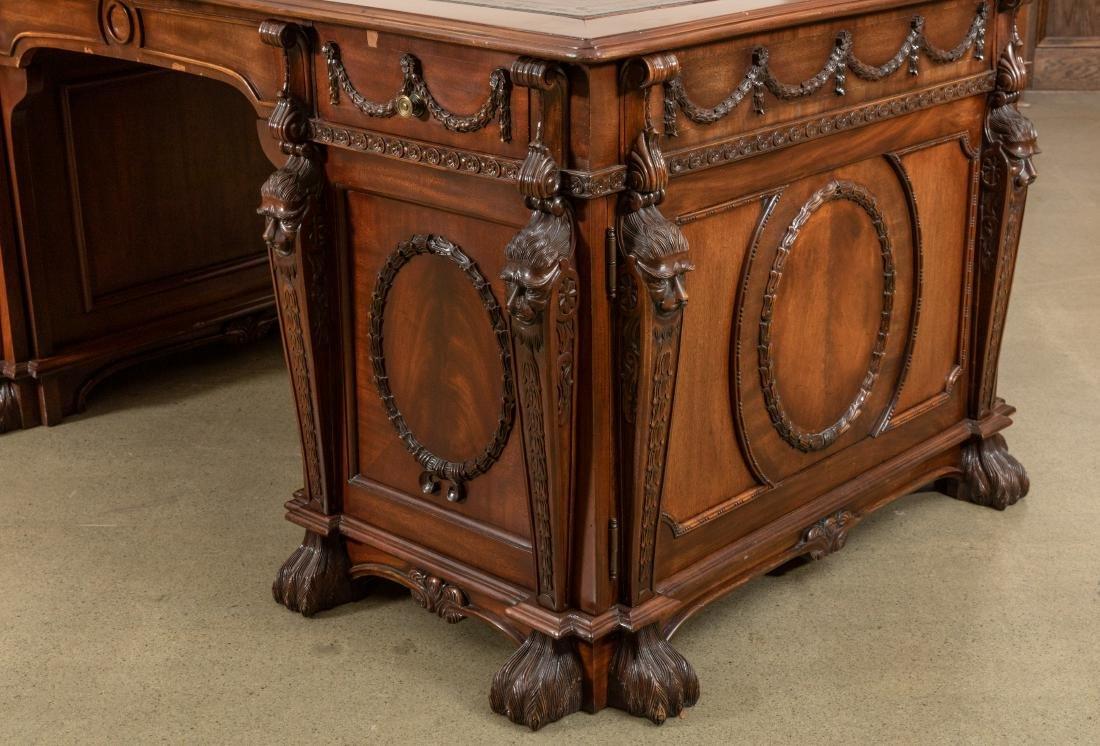 Figural Mahogany Partners Desk - 2