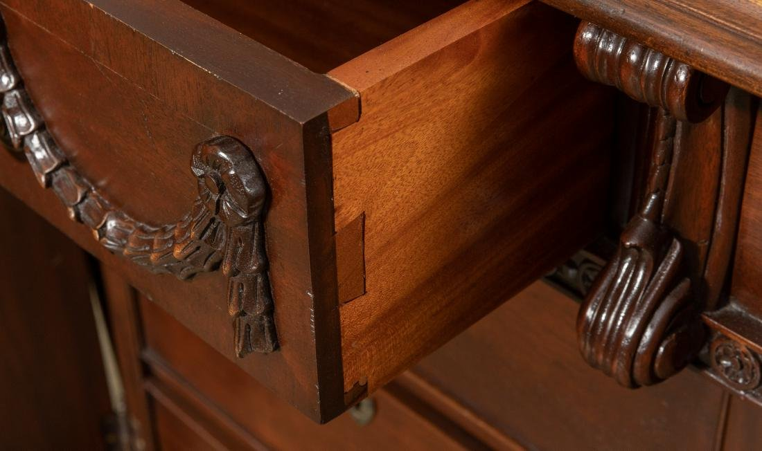Figural Mahogany Partners Desk - 6