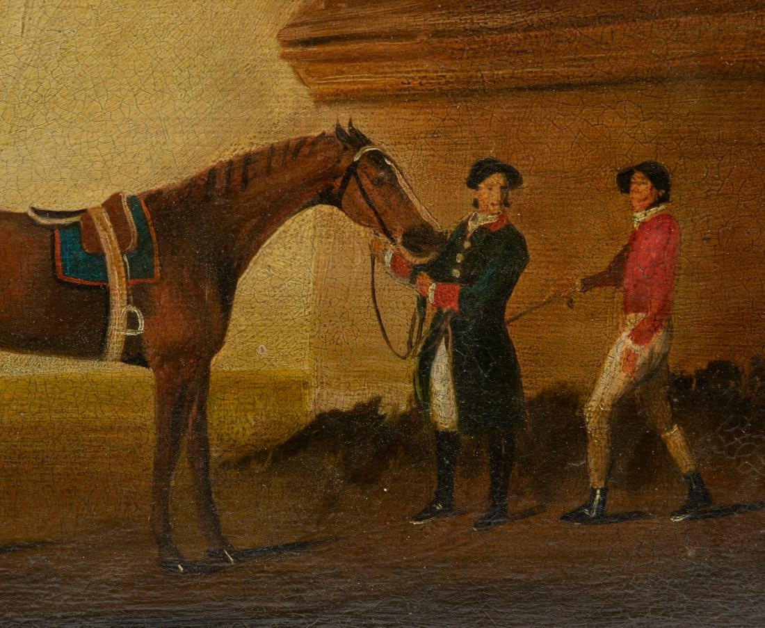 19th c. Equestrian Oil on Canvas Board - 2