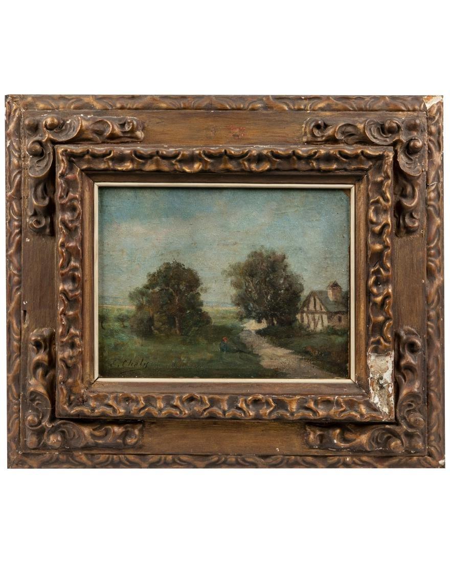 French Landscape - Oil on Board - Signed