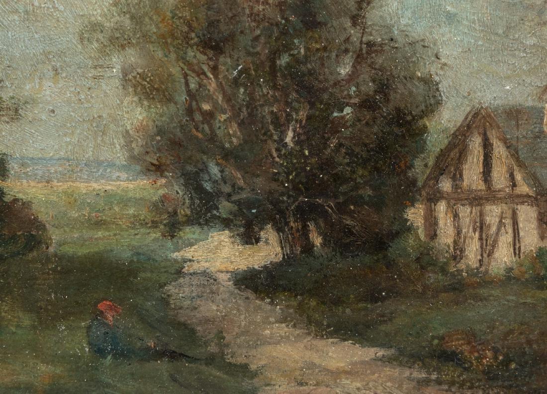 French Landscape - Oil on Board - Signed - 4