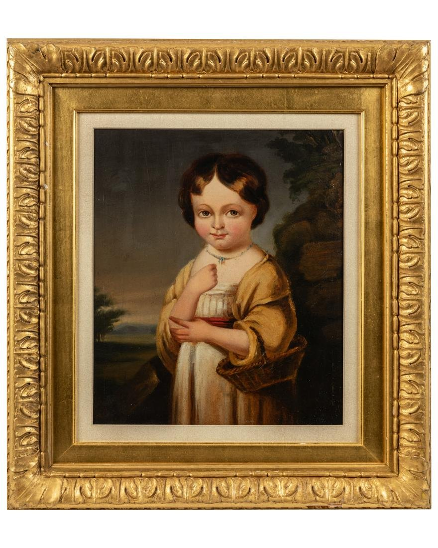 Oil on Board Portrait of Child