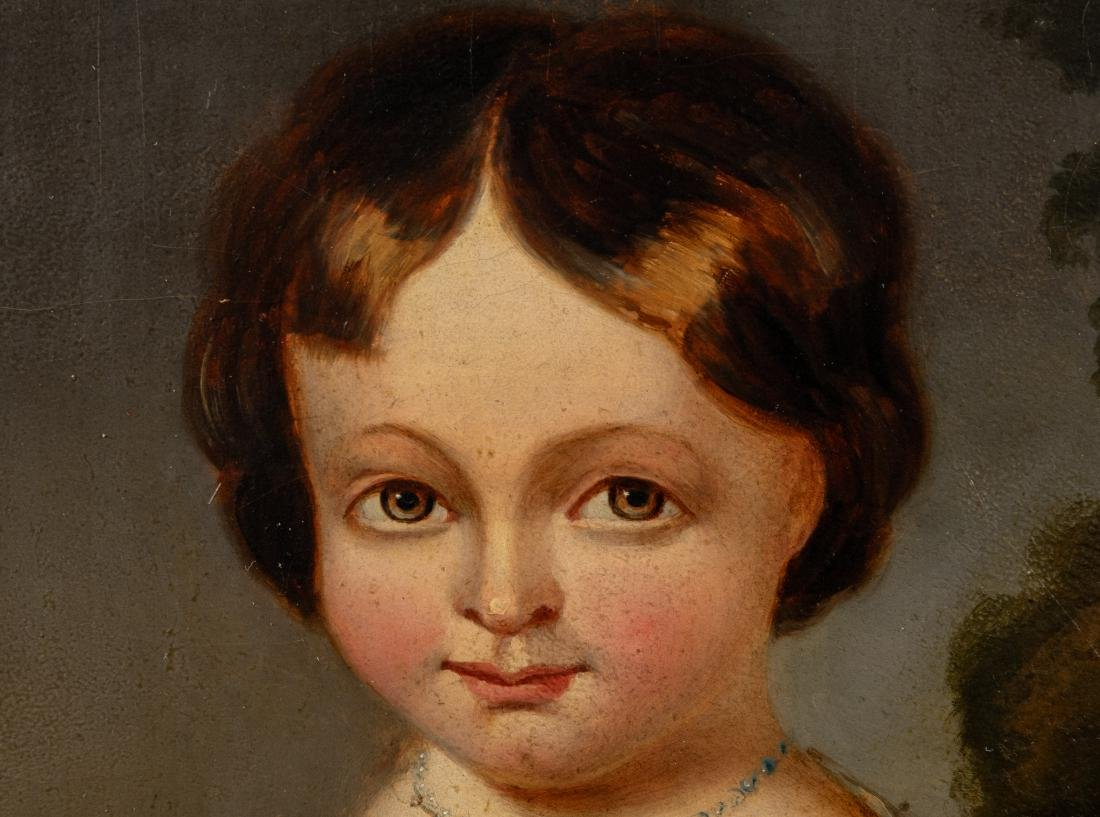 Oil on Board Portrait of Child - 3