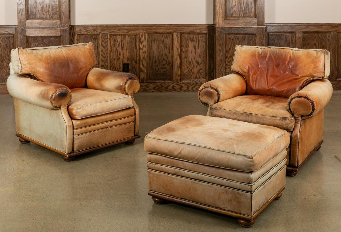 Ralph Lauren - Club Chairs and Ottoman