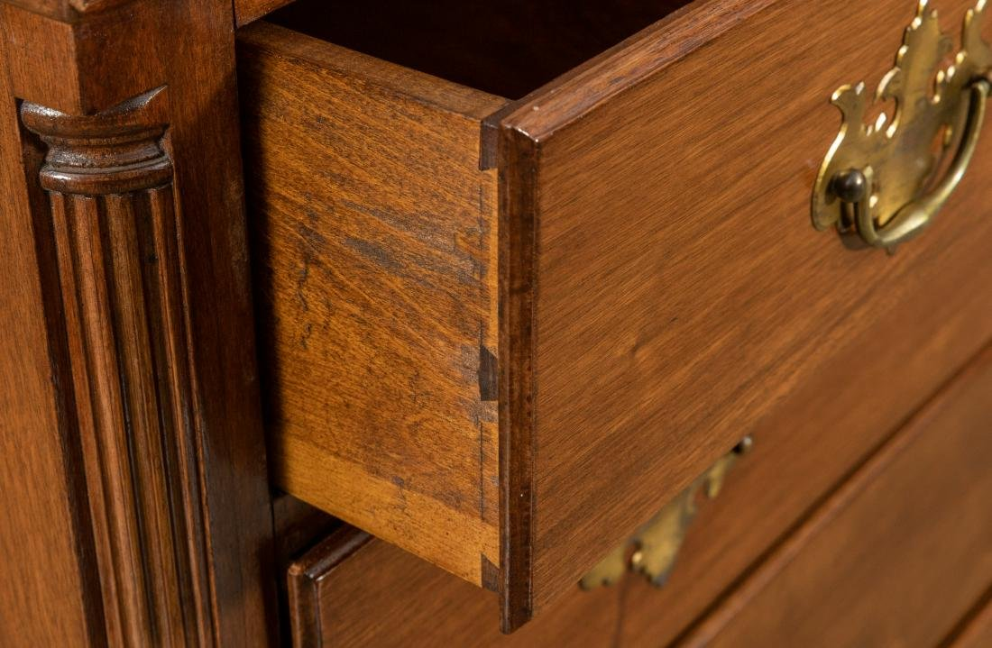Mahogany Chippendale Style Chest - 4